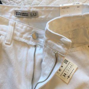 Zara Jeans - Zara | Basic Denim Jean Floral Embroidery White 2